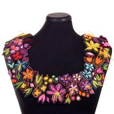 flower power collar — Danielle Gori-Montanelli Flower Shape, Cut Flowers, Flower Power, Fancy, Jewelry, Contemporary, Diy, Inspiration, Fashion