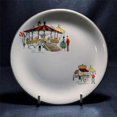 Vintage Alfred Meakin  Carousel  6½  Tea Plate.