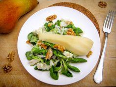 Birnensalat mit Walnüssen und Gorgonzola