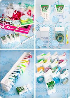 tic - tac as ribbon dispensers :) CLEVER! #storage #organization