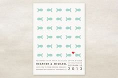 """""""Only Fish for Me"""" Wedding Invitations - so adorable!"""
