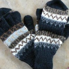 Alpaca Glittens: Fingerless gloves with a  hood. Thumb is covered but can sneak out if needed through a hole in the seam. Alpaca is so soft and plenty warm.