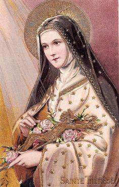Catholic Doctrine, Catholic Art, Catholic Saints, Religious Pictures, Religious Icons, Religious Art, Sainte Therese De Lisieux, Ste Therese, Catholic Wallpaper