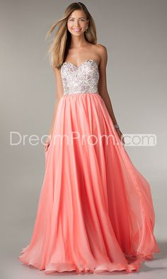 2014 Hot Floor-length Sweetheart A-Line Chiffon Prom Dresses