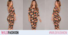 Pentru femeile active, care nu se sfiesc sa fie atragatoare, o rochie cu imprimeu floral, bodycon, este ideala. ❄️