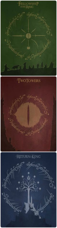Fan made poster of LOTR, awesome images. Could imagine as a tattoo