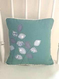 Leaf cushion, leaf pillow, leaf cushion cover, leaf pillow cover, applique cushion, applique pillow, decorative cushion, decorative pillow,