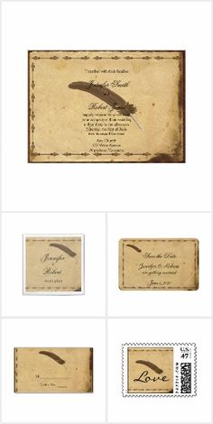 Old Fashioned Elegance Parchment Quill Wedding