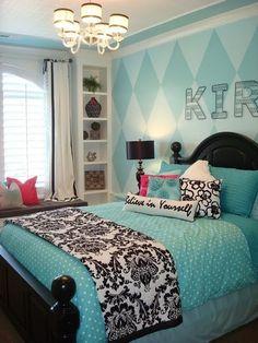 Teenager Zimmer Mädchen Ideen polka dots | girl rooms | Pinterest ...