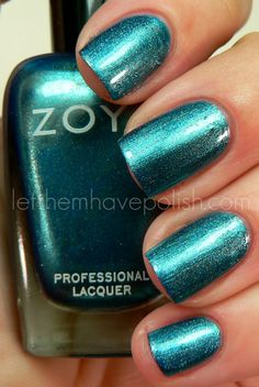Let them have Polish!: Zoya Holiday Gems and Jewels Collection Swatches Blue Nail Polish, Blue Nails, Hot Blue, Creative Nails, Swatch, Makeup Looks, Health And Beauty, Nail Designs, Nail Art
