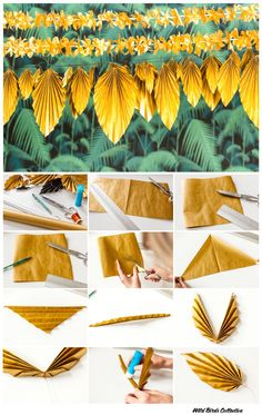 New wedding diy paper mariage 19 Ideas Diy Newspaper Decorations, Diy Party Decorations, Tropical Party, Tropical Decor, Paper Flowers Diy, Flower Crafts, Origami Flowers, Deco Jungle, Diy And Crafts