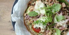 Boekweit pizza met tonijn