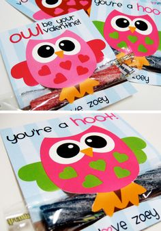 Free Printable Owl Valentines | Click Pic for 29 DIY Valentines Day Crafts for Kids to Make | Easy Valentine Crafts for Toddlers to Make