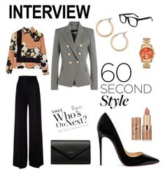 """""""Strong women can anything!"""" by sandra-gonz on Polyvore featuring MaxMara, Balmain, By Malene Birger, Christian Louboutin, Nordstrom, tarte, Balenciaga, jobinterview y 60secondstyle"""