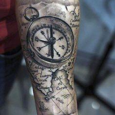Cool Compass Tattoo Ideas For Men