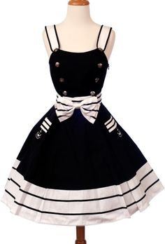 An adorable sailor lolita dress.
