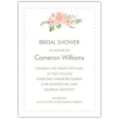 2ac1dec43771 Bohemian Vintage Rose Bridal Shower Invites