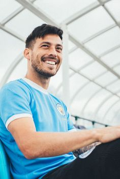 Man City are the starting the celebrations of its anniversary season by unveiling a commemorative year anniversary PUMA kit. Zen, Community Shield, Messi Soccer, Premier League Champions, Soccer Stars, Manchester City, Football Shirts, Liverpool, Superstar