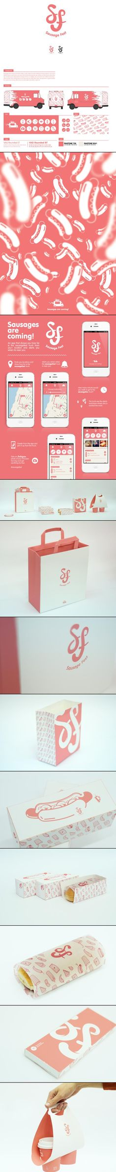 Sausage Fest By Avi Naim from 42Lions. I could eat this for breakfast #identity #packaging #branding #marketing PD
