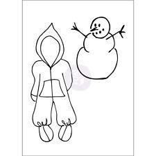 Prima Julie Nutting Snowsuit Baby Doll Clothes Stamp Set 9 Winter Snow Snowman