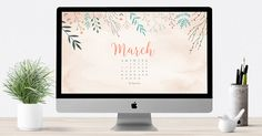 March 2016 free calendar wallpaper – desktop background