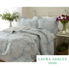 Laura Ashley Rowland 3-piece Quilt Set | Overstock.com Shopping - Great Deals on Laura Ashley Quilts