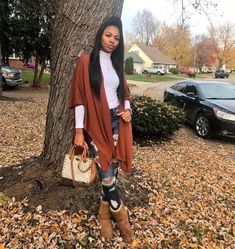 Casual Fall Outfits That Will Make You Look Cool – Fashion, Home decorating Winter Outfits For Teen Girls, Cute Fall Outfits, Winter Fashion Outfits, Dope Outfits, Fall Winter Outfits, Autumn Winter Fashion, Trendy Outfits, Girl Outfits, Black Girl Fashion