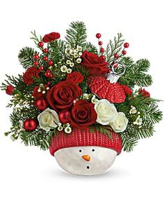 Christmas Flowers Delivery Louisa KY - Farmhouse Memories Christmas Flower Arrangements, Christmas Flowers, Christmas Wreaths, Christmas Gifts, Christmas Decorations, Holiday Decor, Flowers Today, Winter Solstice, Winter Fun