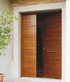 Go look at these Thirteen tactics all in regards to Modern Entrance Door, Main Entrance Door Design, Modern Front Door, House Entrance, Entrance Doors, Entrance Ideas, Wooden Front Door Design, Double Door Design, Wooden Front Doors