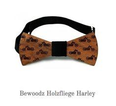 Holzfliege Herren - Harley Design von Bewoodz - Holzfliegen Deutschland