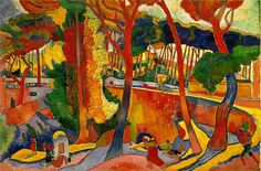ANDRÉ DERAIN   French, 1880 - 1954   The Turning Road, L'Estaque   1906   Oil on canvas   51 x 76 ¾ inches     The Museum of Fine Arts, Houston   Gift of Audrey Jones Beck