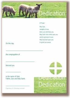 Infant Dedication Certificates - Pack of 10