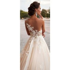The Most Hottest Milla Nova 2016 Wedding Dresses ❤ liked on Polyvore featuring dresses and wedding dresses