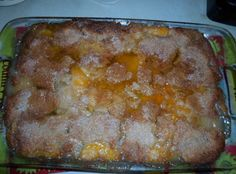 PEACHY - PEACH COBBLER (Make with home made Bisquick or fewer calories with no bottom crust. In season try Nectarines)