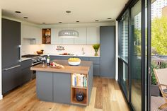 Seattle, Modern Kitchen Lighting, Loft Kitchen, Banner, Upper Cabinets, Engineered Hardwood, Open Shelving, Home Decor Inspiration, Countertops
