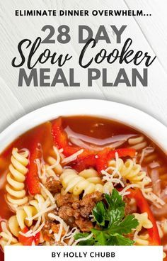 28 Day Slow Cooker Meal Plan | At Home With Holly