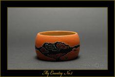 My Country No3  Handpainted Wooden Bracelet  by MATILDArtDOLLS, €21.00