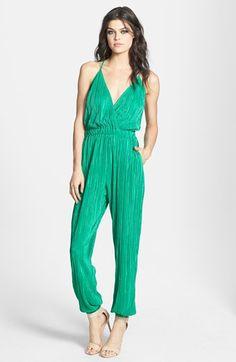 June & Hudson Strap Back Textured Jumpsuit  