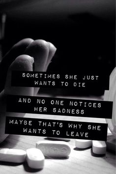 I want to leave..