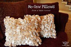 No-Sew Pillows - cute!