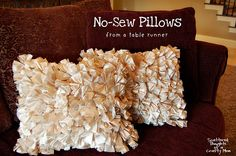 make a simple NO SEW pillow