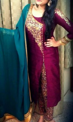 Colors & Crafts Boutique™ offers unique apparel and jewelry to women who value versatility, style and comfort. For inquiries: Call/Text/Whatsapp Punjabi Fashion, Indian Fashion, Indian Dresses, Indian Outfits, Pakistani Dresses, Salwar Pattern, Suits For Women, Clothes For Women, Boutique Suits