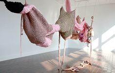 Mary Tuma - Internal Systems III Knit Art, Crochet Art, Learn To Crochet, Crochet Bodies, Fibre Material, Yarn Bombing, Soft Sculpture, Yarn Crafts, Art Google