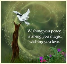 wishing You Peace, Magic and Love ༺❁༻