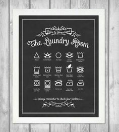 Guide to Procedures Laundry Room Print - Vintage Black | Functional art for the laundry room in a vintage-inspired desi... | Printmaking