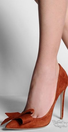 Daniele Michetti ~ Fall Suede Pump w Toe Bow,Sien, 2015