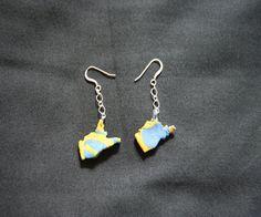 West Virginia Earrings. $6.00, via Etsy.