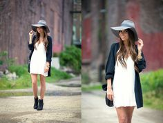 Brixton Hat, Rag & Bone Booties, Love Culture Dress, Brandy Melville Usa Sweater