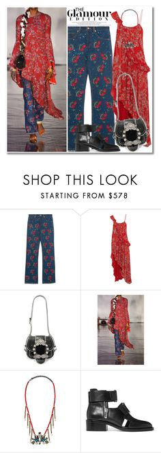 """""""Untitled #519"""" by zhris ❤ liked on Polyvore featuring Ashish, Miu Miu, Gucci and 3.1 Phillip Lim"""