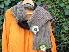"""Echarpe, tricotée main, collection les 4 saisons """"le printemps..."""" : Echarpe, foulard, cravate par la-maille-aux-tresors"""